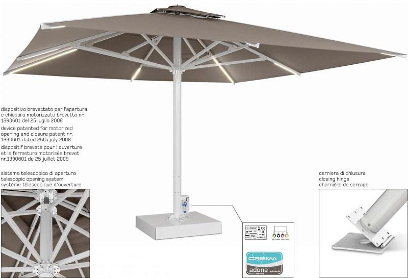Прямоугольный зонт «Adone 2.0» Производитель: «Crema» (Италия)