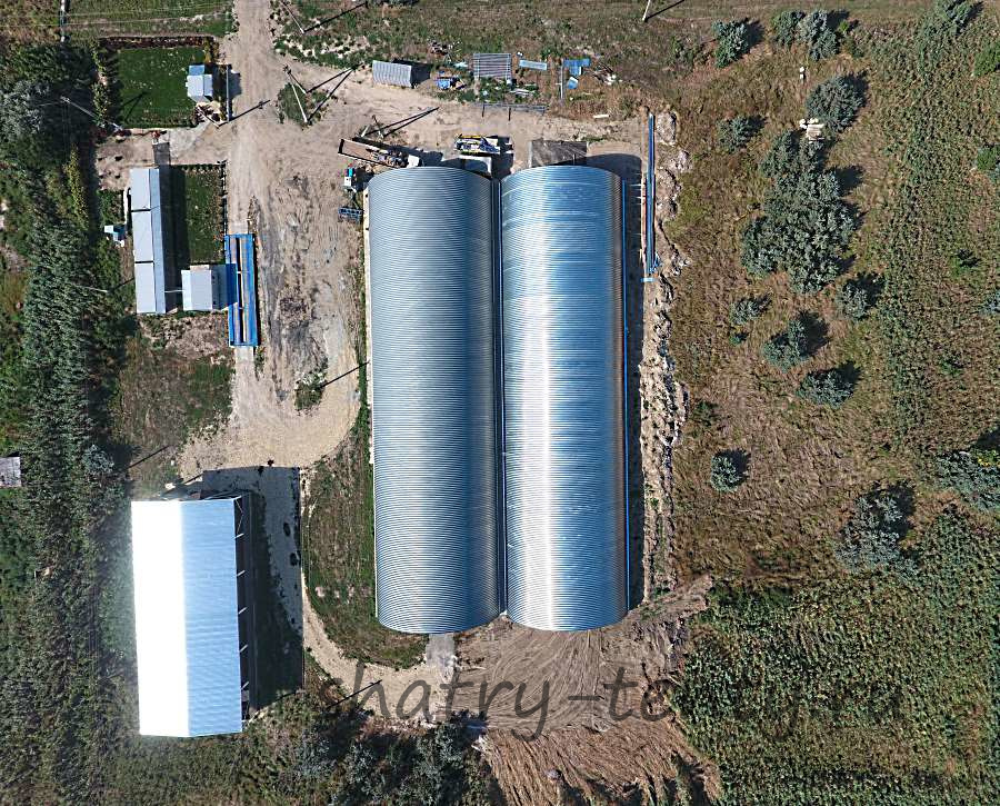 Разборный ангар для хранения сельхозпродукции
