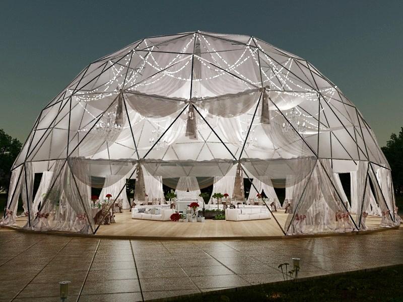 Ресторан на 50 посадочных мест в сферическом шатре