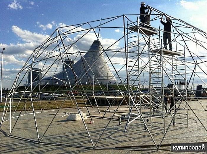 Сборка каркаса сферического шатра