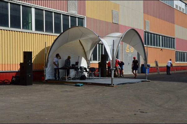 Арочный шатер 5х5 для сцены