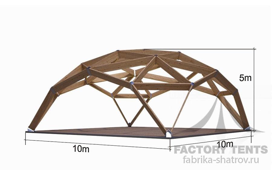 Квадросфера 10х10м Производитель: «Фабрика шатров» (Россия)