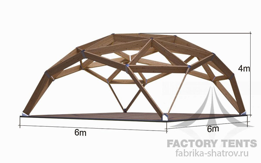 Квадросфера 6х6м Производитель: «Фабрика шатров» (Россия)
