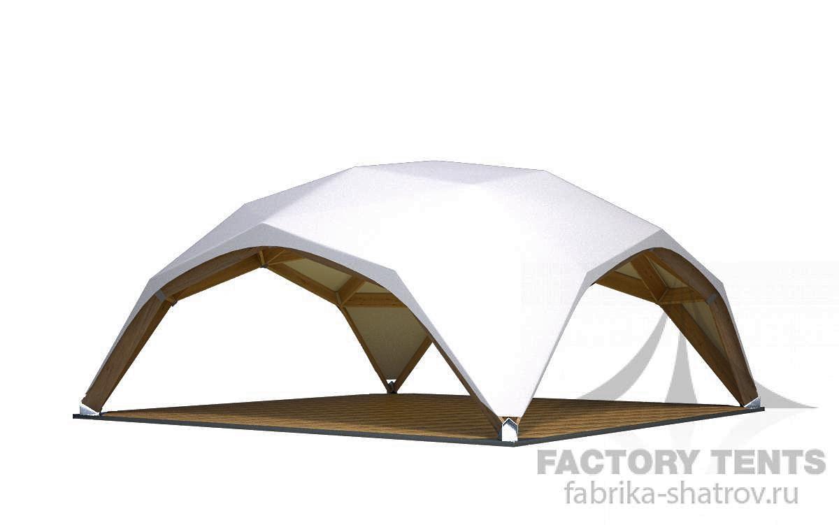 Квадросфера 8х8м Производитель: «Фабрика шатров» (Россия)