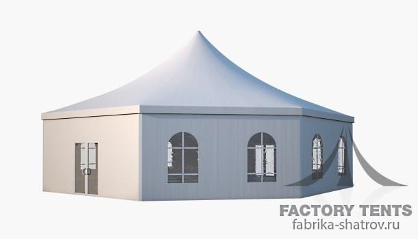 Шестигранный шатер римини диаметр 15 м компания Фабрика Шатров