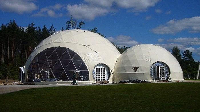 Сферический шатер на 100 человек