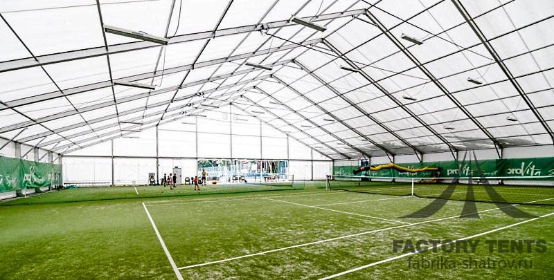Большой классический шатер для 2-ух теннисных кортов