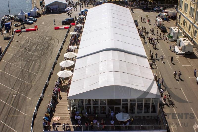 Шатер - выставочный зал с высокой пропускной способностью посетителей