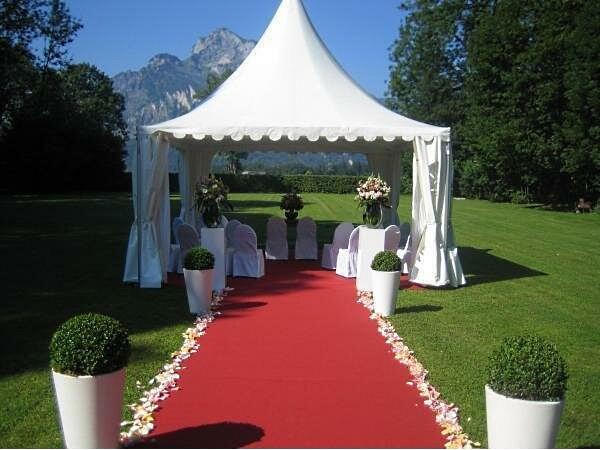 свадебная регистрация в шатре Пагода 4х4
