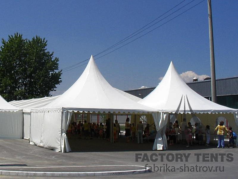Сдвоенный шатер Пагода 5х5 м