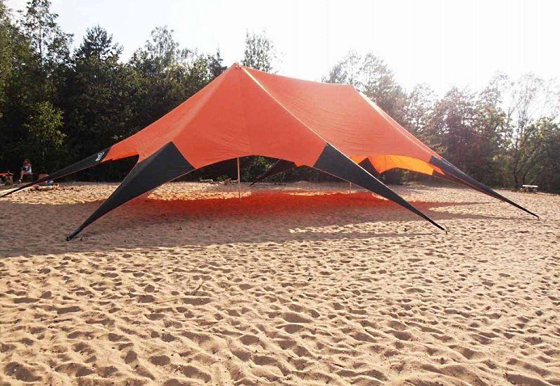 Шатер-тент Звезда на пляже
