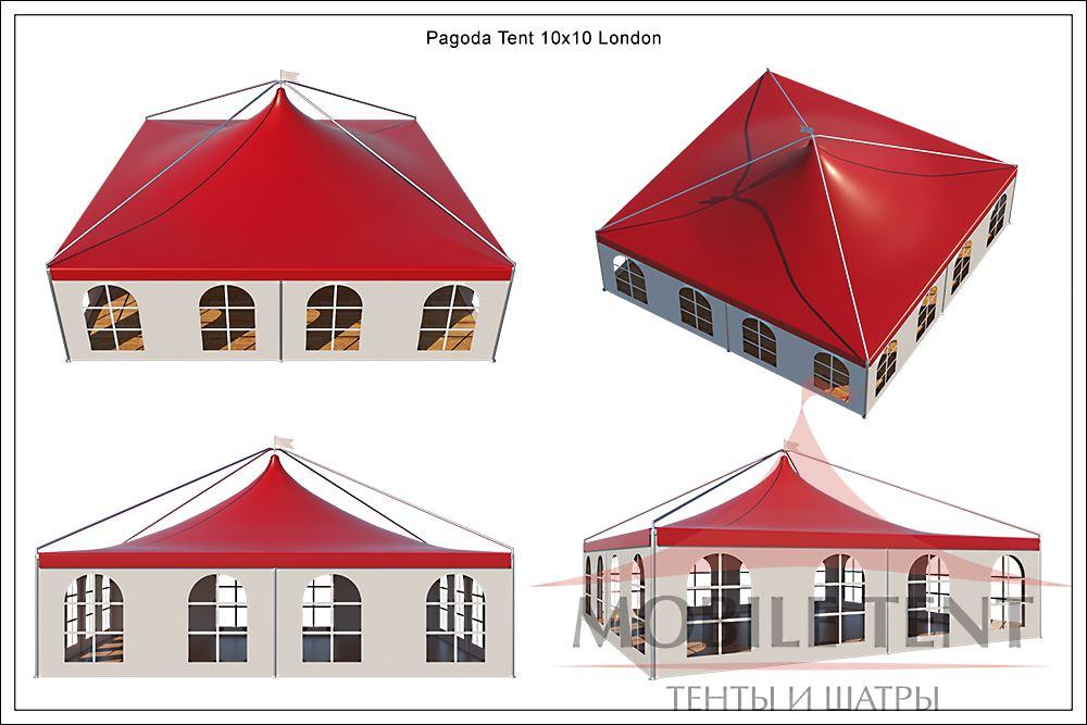 Схема шатер пагода Лондон 10х10 м