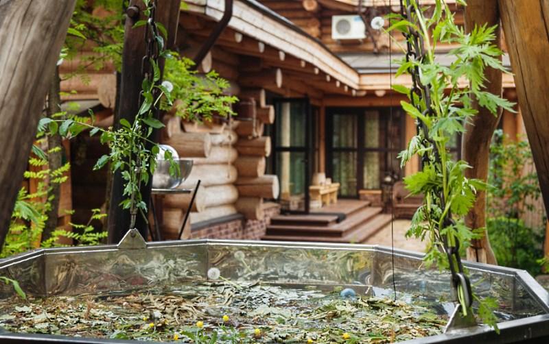 Шестигранная баня в чане «Топка Плюс» L-1500