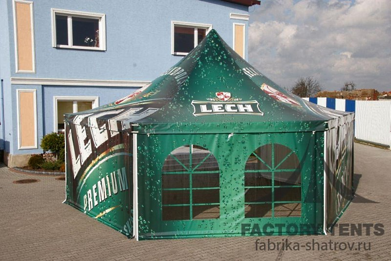 Шестигранный шатер Римини 10х10м компания Фабрика Шатров