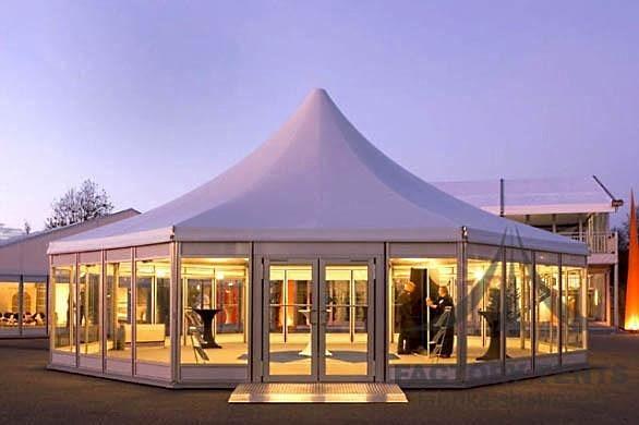 Шестигранный шатер-павильон на 100 человек
