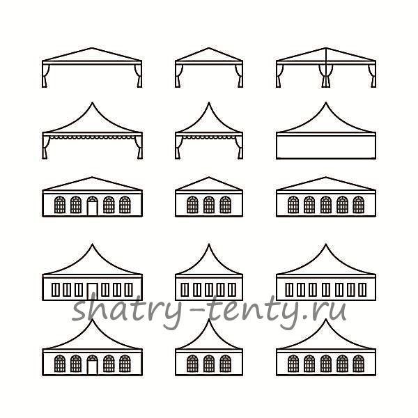 Схема компоновки шатра типа Пагода
