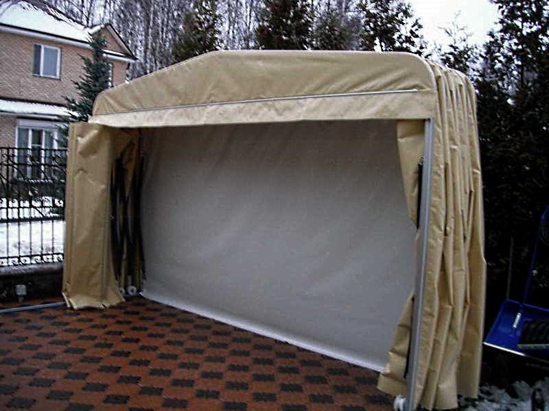 Складной тентовый гараж 2,4х5,6х1,9 м