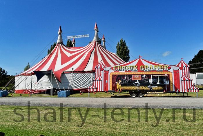 Сопутствующие каркасно-тентовые павильоны для цирка