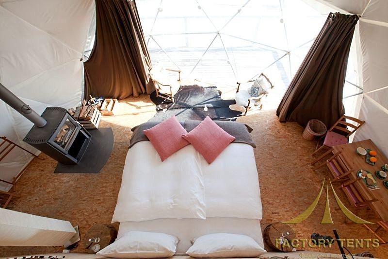 Спальная комната в купольном доме