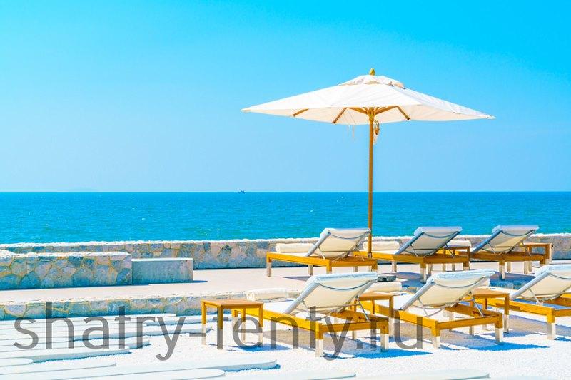 Стандартный размер круглого пляжного зонта диаметр 1,8-2м