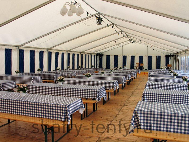 Столовая в классическом шатре на 150 посадочных мест