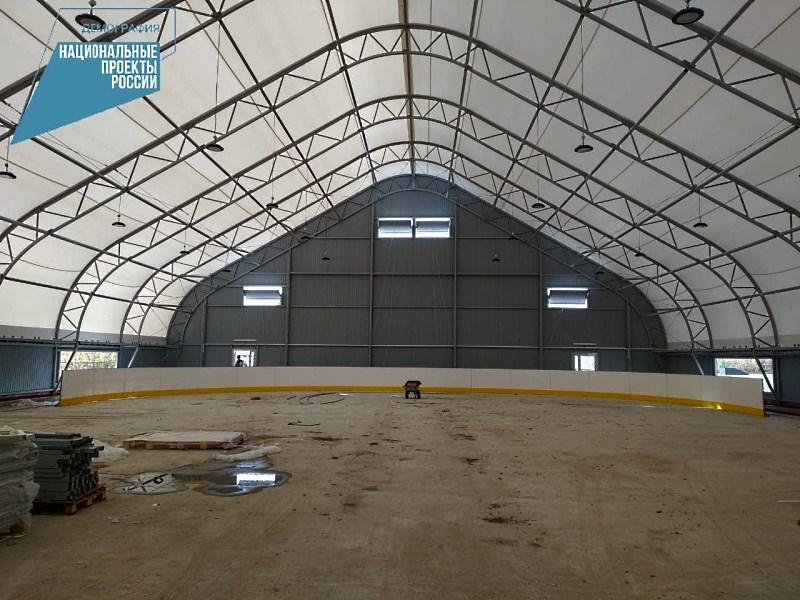 Строительство крытого ледового катка