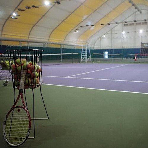 Теннисный корт в тентовом ангаре 35х20х9 м