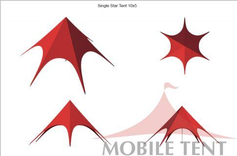 Тент Звезда 10 м вид с четырех сторон