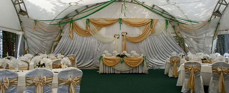 Тентовые шатры-арки на 50 человек