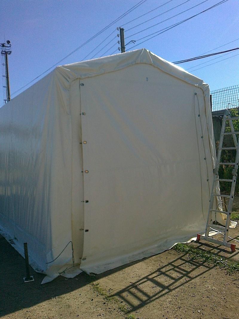 Прямоугольный тентовый гараж 8х12