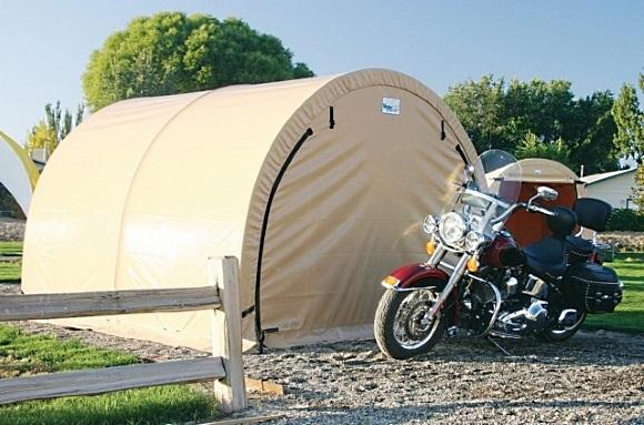 Тентовый гараж для мотоцикла