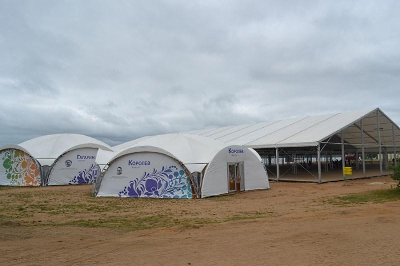 Выставка в комплексе шатров различной формы