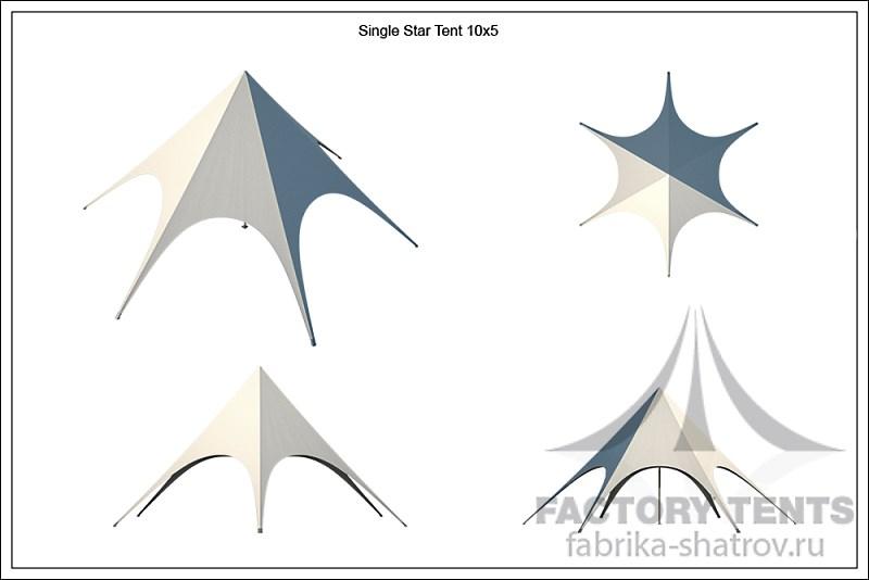 Шатер Звезда диаметром 10 м компании Фабрика Шатров
